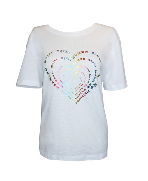 Rainbow Women Curvy T-shirt - Supports World Of Children