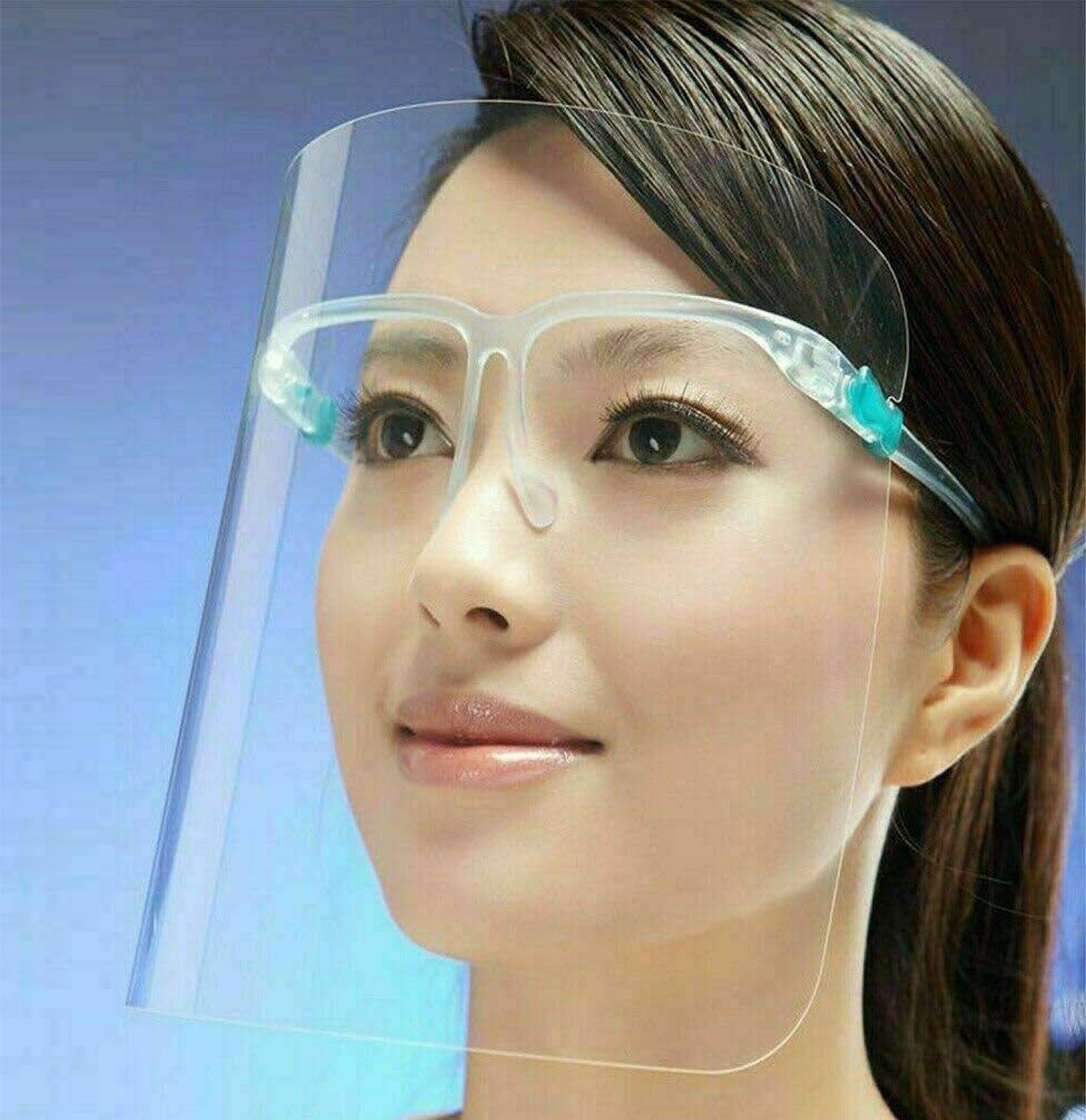 Protective Shield with Glasses
