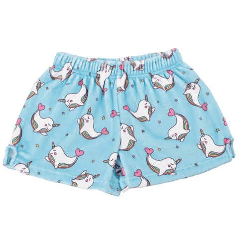 Narwhal Plush Pajama Short