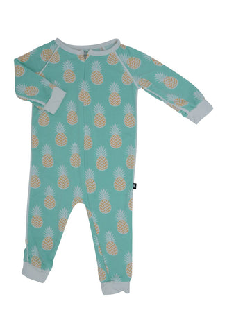 Sweet Bamboo Pineapples Zipper Romper