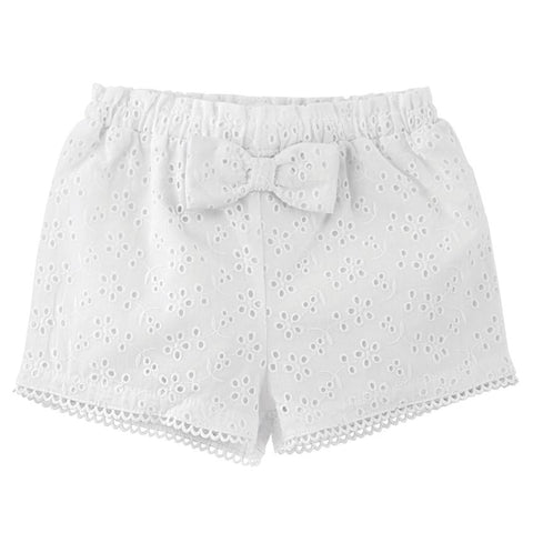 Toddler Lace Eyelet Shorts