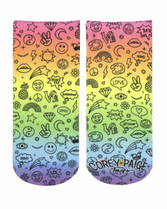 Doodle Icons Ankle Socks