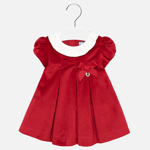 Mayoral Velour Ruffle Dress