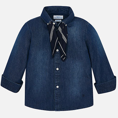 Mayoral Button Down Denim Top
