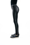 Tractr Faux Leather Pull-On Legging