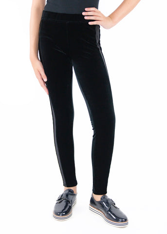Tractr Velvet Pull-On Leggings