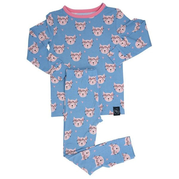 Sweet Bamboo Hippie Kitty PJ Set