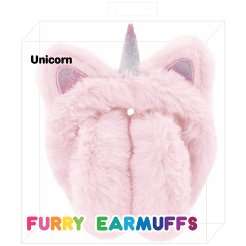 Furry Unicorn Earmuffs