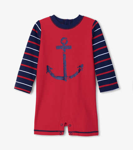 Nautical One-Piece Rashguard