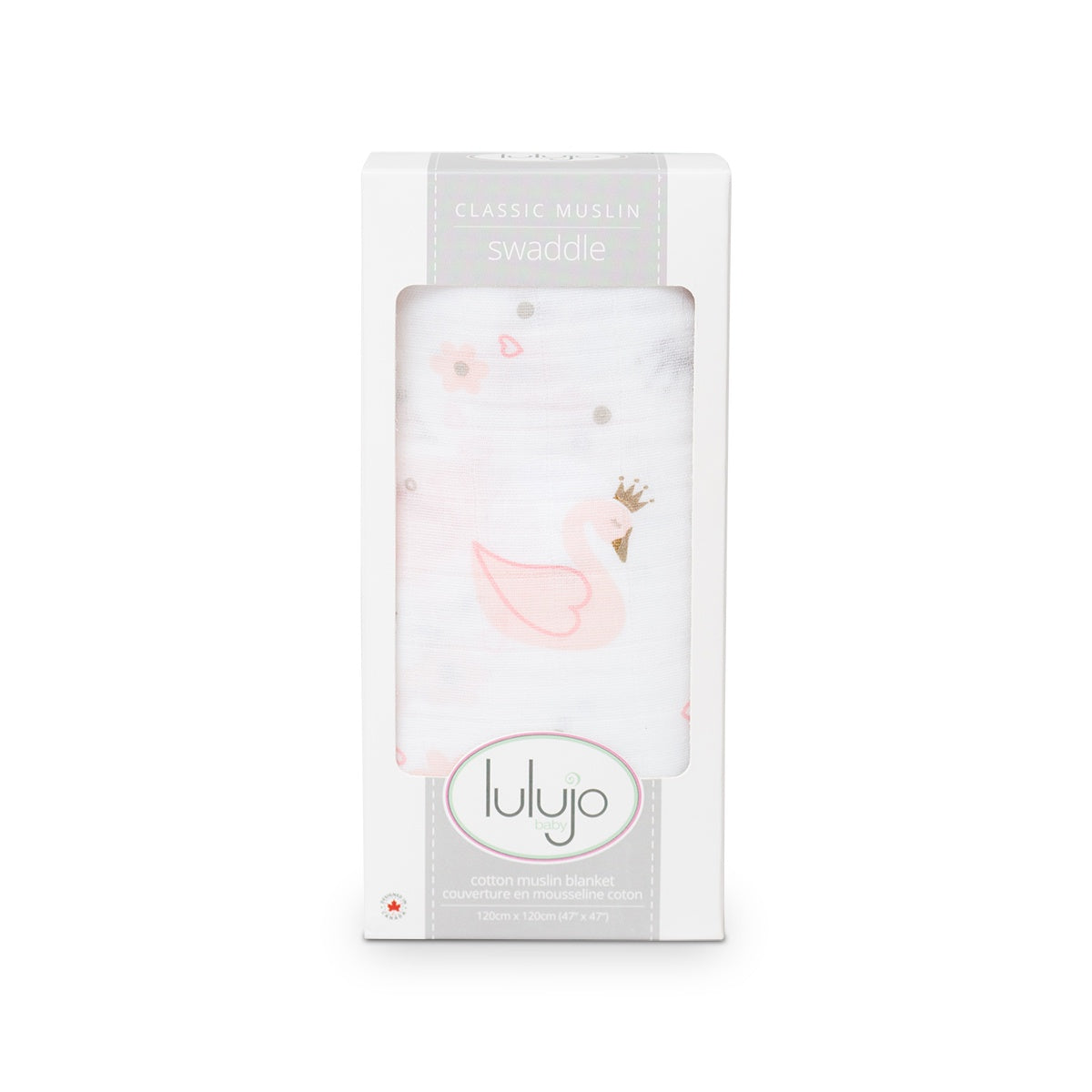 Swan Muslin Cotton Swaddle