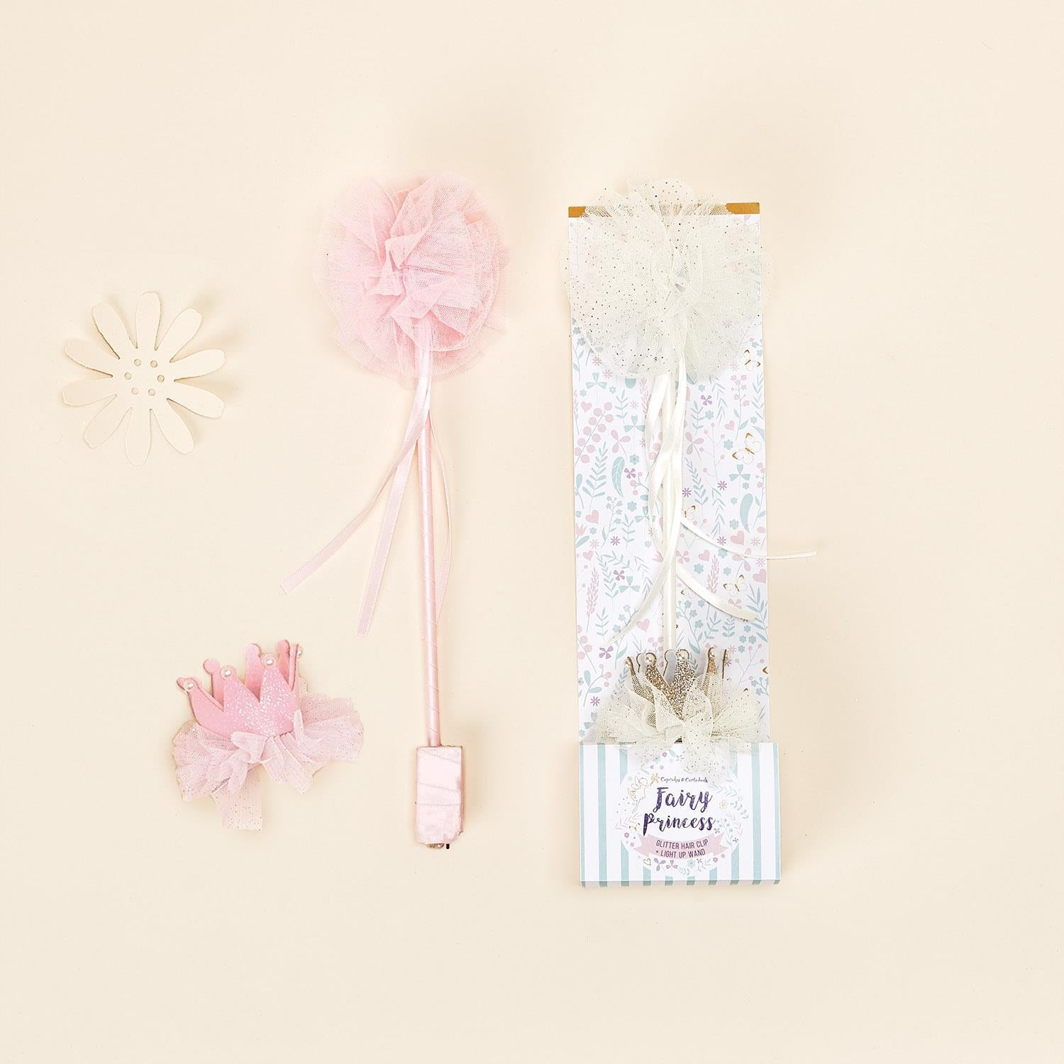 Fairy Wand & Crown Clip Set