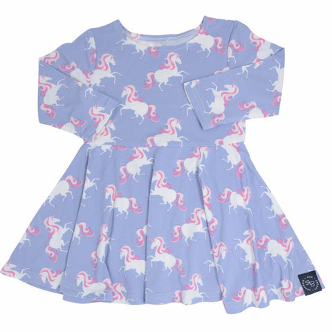 Sweet Bamboo Unicorns Swirly Dress
