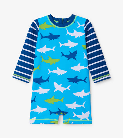 Sharks One-Piece Rashguard