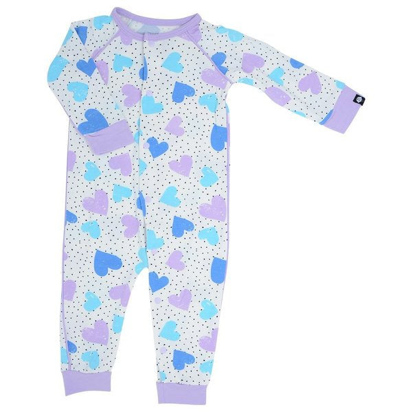 Sweet Bamboo Dot Hearts Romper