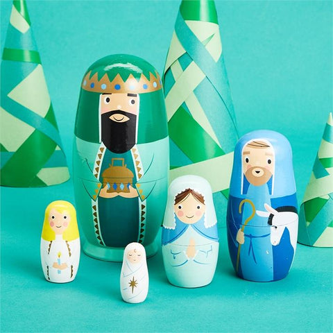 Nativity Family Nesting Dolls