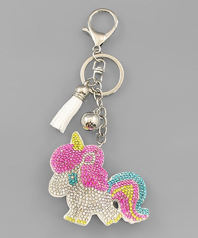 Crystal Unicorn Key Chain