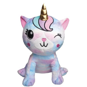 Caticorn Tie Dye Fleece Pillow