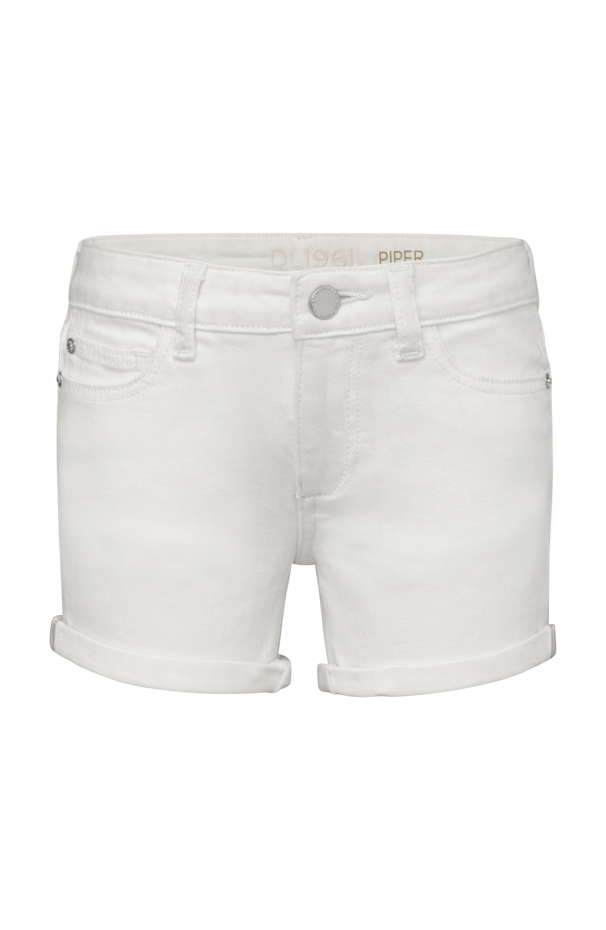 DL1961 Piper White Cuffed Denim