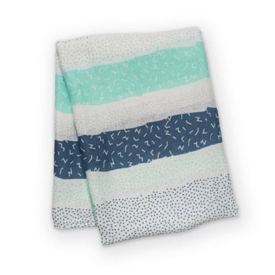 Spotted Stripe Bamboo Swaddle