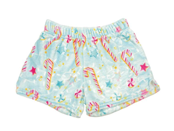 Candy Canes Plush PJ Short