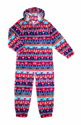 Kid's Christmas Stripe Onesie
