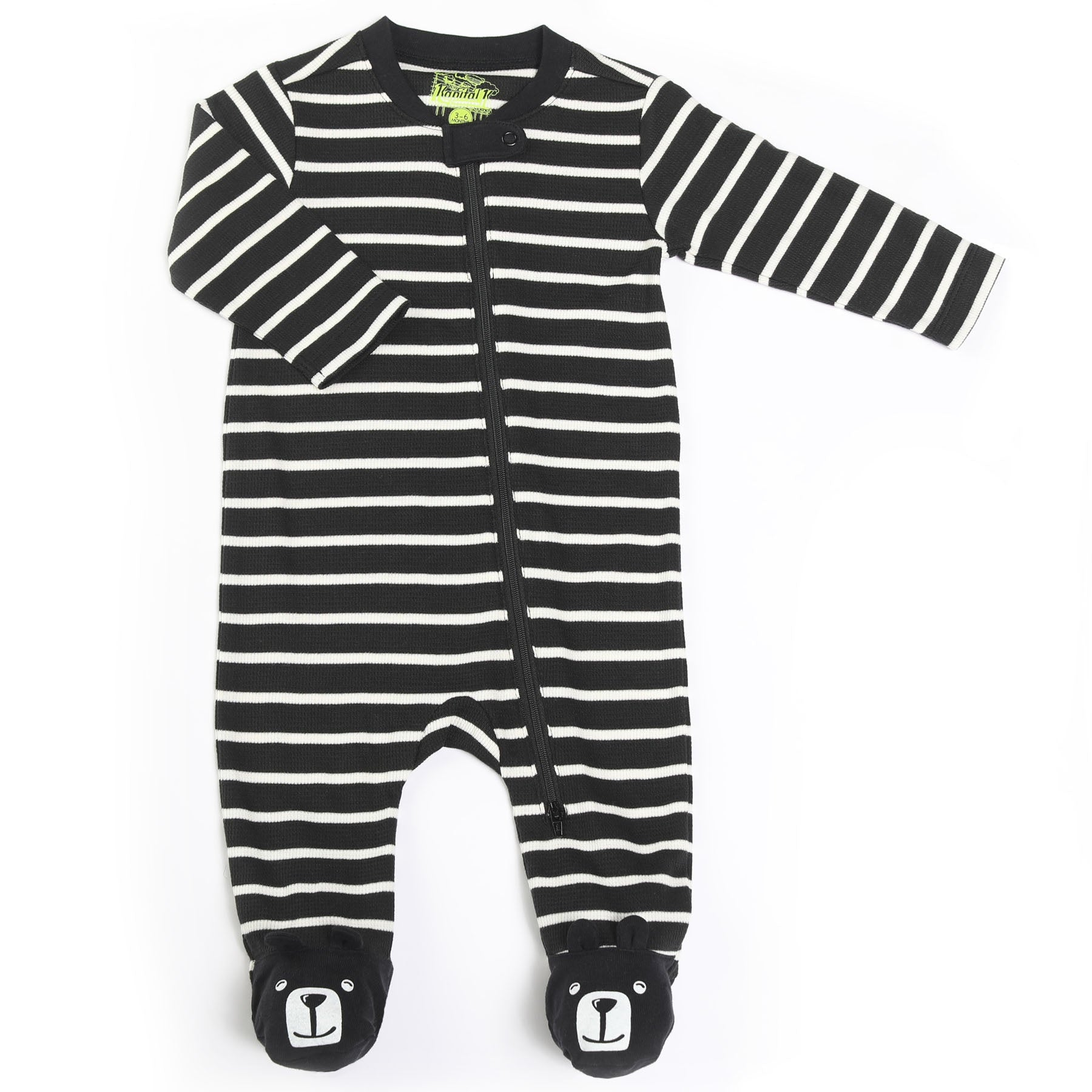 Stripe Thermal Bear Footie