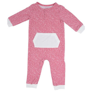 Sweet Bamboo Pink Spatter Romper