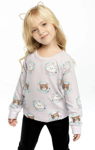 Chaser Kitty Wreaths Pullover