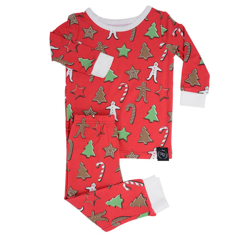 Sweet Bamboo Holiday Cookie PJ Set