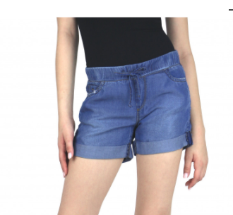 Tractr Chambray Draw String Shorts