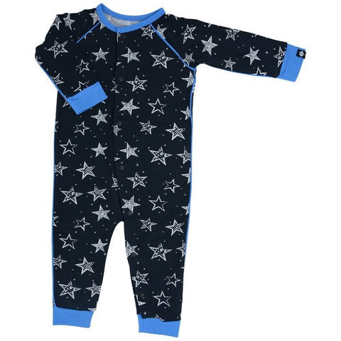 Sweet Bamboo Blue Starry Night Romper