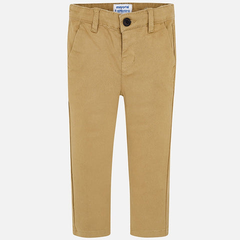 Mayoral Khaki Basic Twill Pants