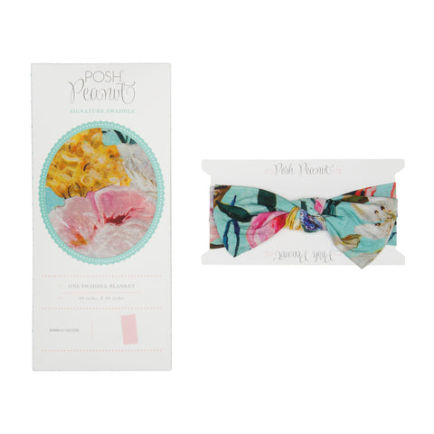 Posh Peanut Swaddle & Headband Set