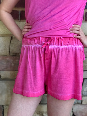 Washed Drawstring Shorts