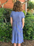 Mixed Stripe Dress with Pockets