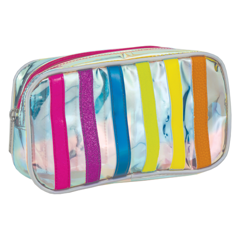 Striped Small Cosmetic Bag