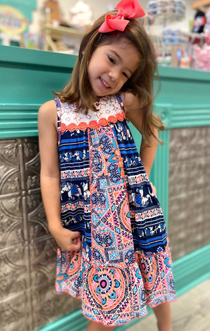Elephant Pattern Tank Dress