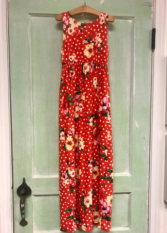 Floral & Polka Dot Maxi Dress