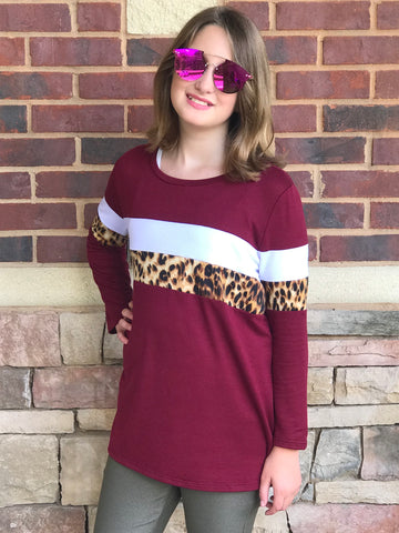Colorblock Leopard Sweatshirt