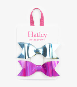 Small Metallic Bows 2-Pack
