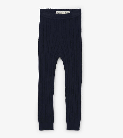 Baby Navy Cable Knit Leggings