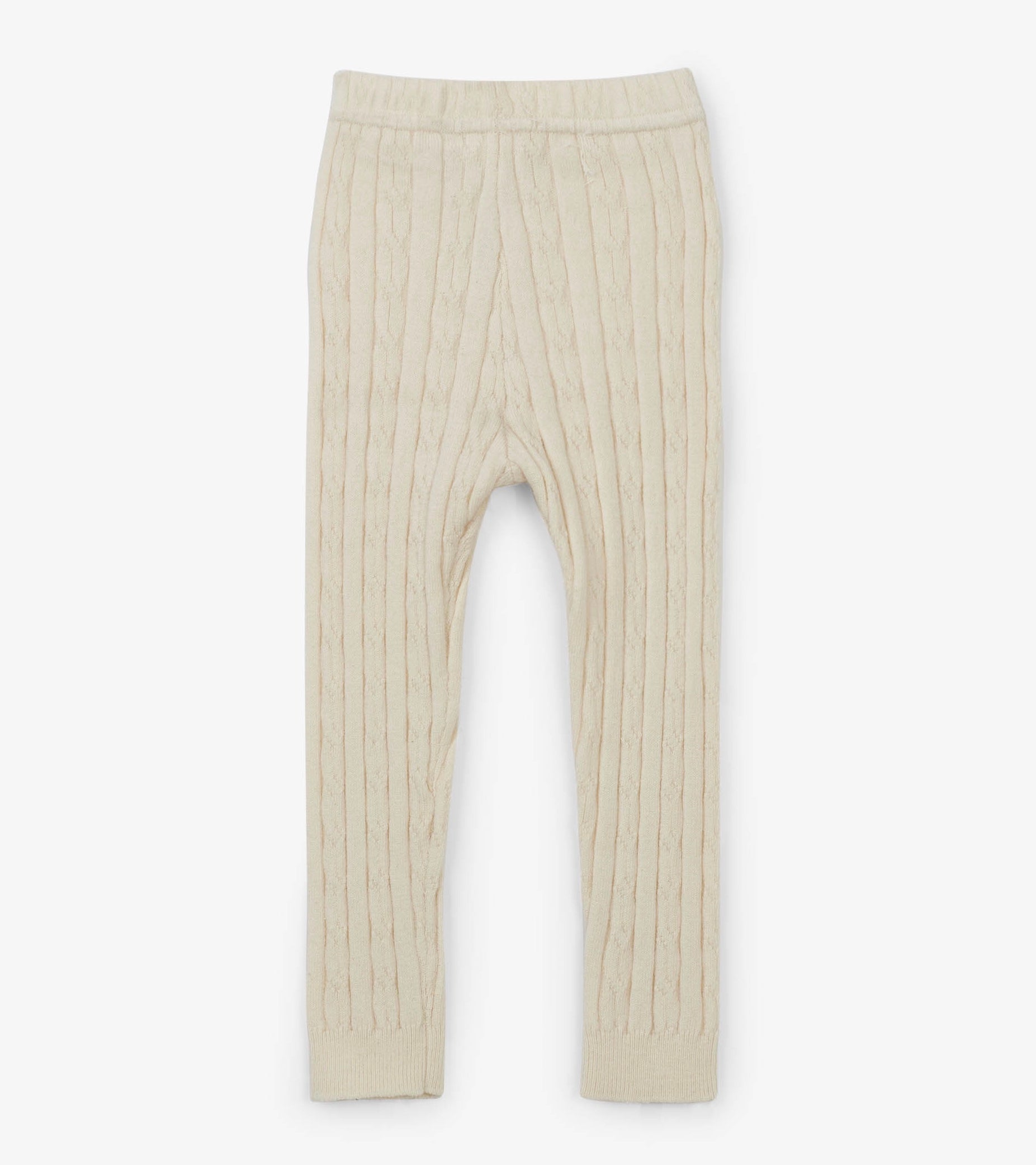 Baby Cream Cable Knit Leggings