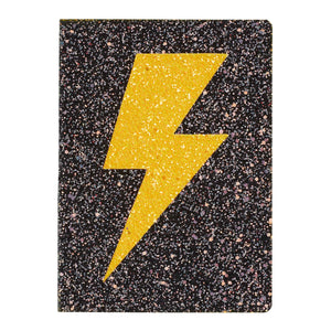 Glitter Lightning Bolt Flex Journal