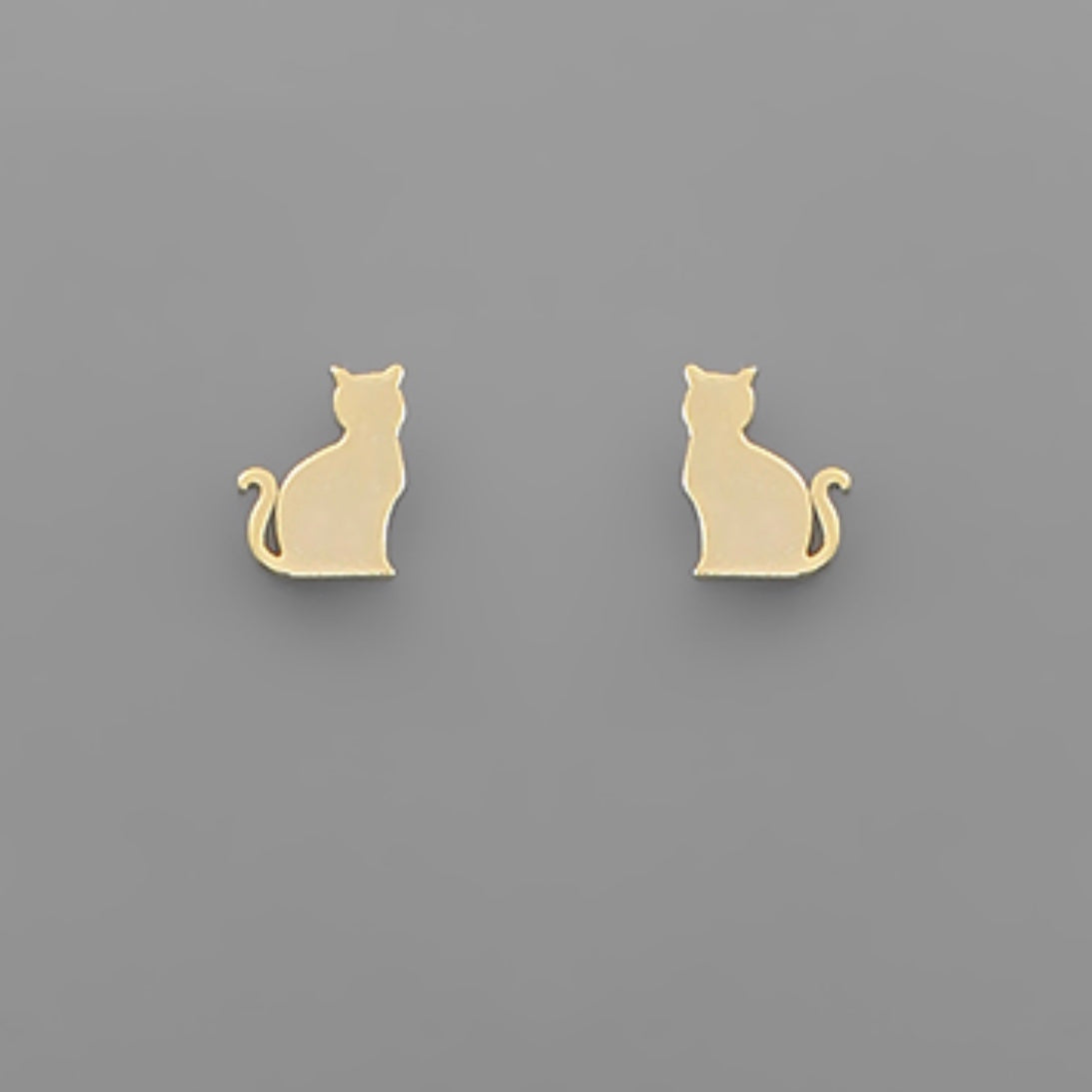 Brass Cat Studs