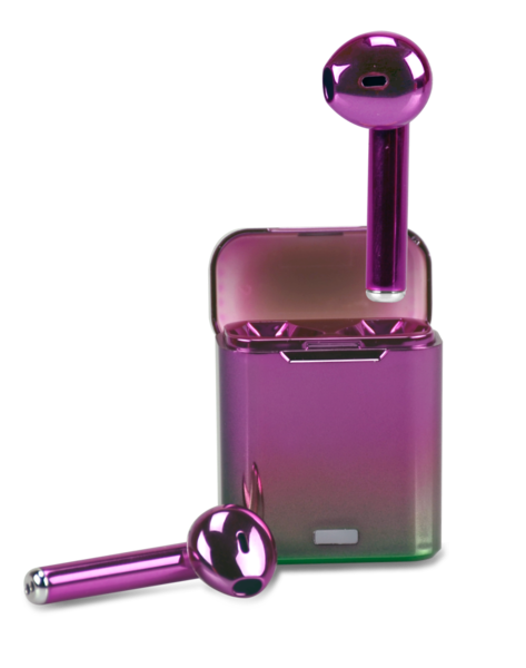Purple Metallic Wireless Earbuds