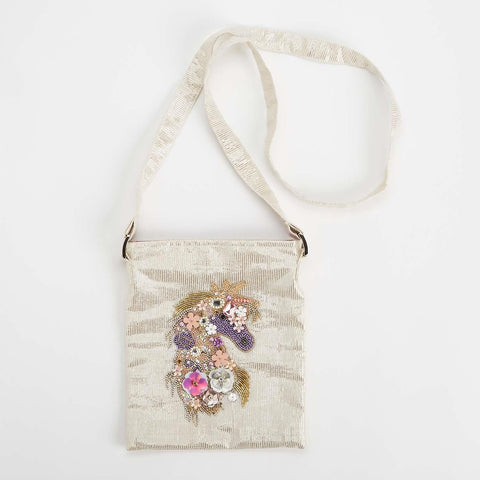 Unicorn Embellished Crossbody Bag