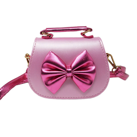 Shiny Bow Mini Bag
