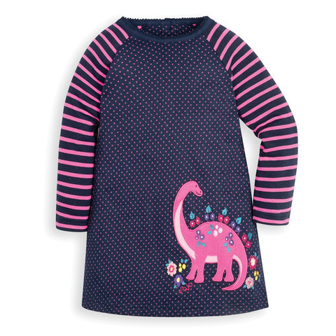 JoJo Dino Applique A-Line Dress