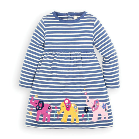 JoJo Elephant Applique Dress