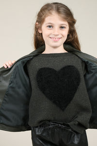 Molly Knitted Heart Sweater